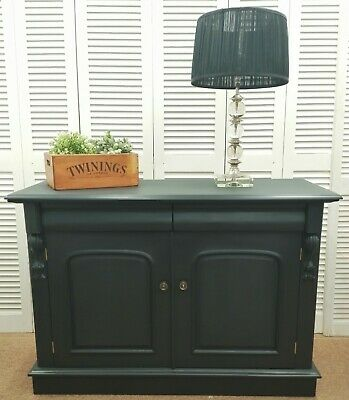 Quality Victorian Style Sideboard - Farrow & Ball 'Off Black' - HSHS HF3254