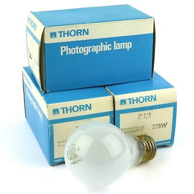 3 x Thorn Photographic Lamp Light Bulb P1/1 220/230v 275W ES