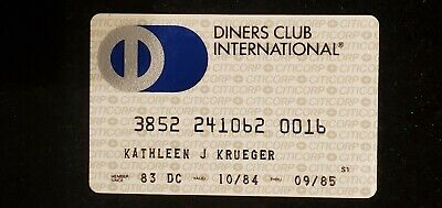 CITICORP Diners Club exp 1985♡Free Shipping♡ cc726