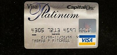 Capital One Platinum Visa credit card exp 1999♡Free Shipping♡cc671
