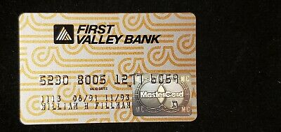 First Valley Bank MasterCard exp 1993♡Free Shipping♡ cc731