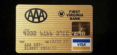 AAA First Virginia Bank Gold Visa exp 1997♡Free Shipping♡ cc727