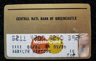 Central Natl Bank of Greencastle MasterCard credit exp 1986♡Free Shipping♡cc658