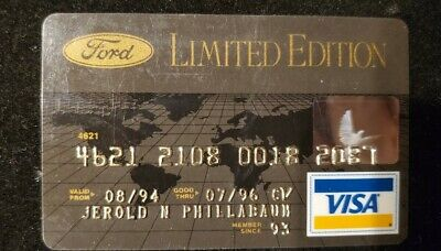 Ford Limited Edition Visa exp 1996♡Free Shipping♡ cc737 rare