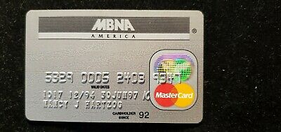 MBNA America MasterCard credit card exp 1997♡Free Shipping♡cc646