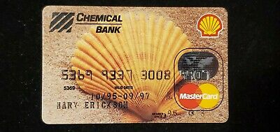 Chemical Bank Shell Oil MasterCard exp 1997♡Free Shipping♡ cc733