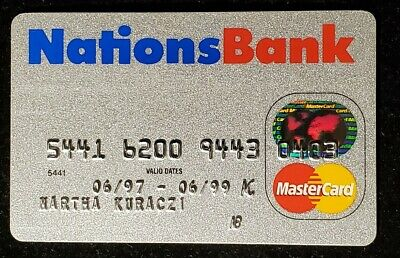 Nations Bank MasterCard credit card exp 1999♡Free Shipping♡cc963