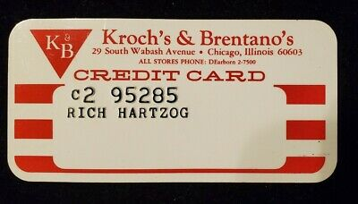 Kroch's & Brentano's Chicago IL Charge Card♡Free Shipping♡cc608♡ Princess Size