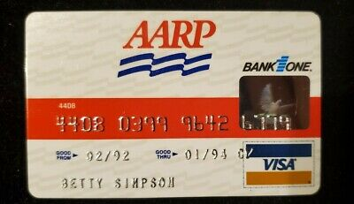 AARP Bank One Visa exp 1994♡Free Shipping♡ cc740
