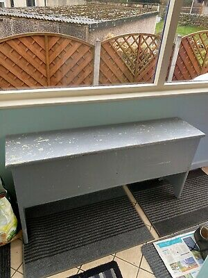 Vintage Settle Bench Seat With Storage, Shabby Chic