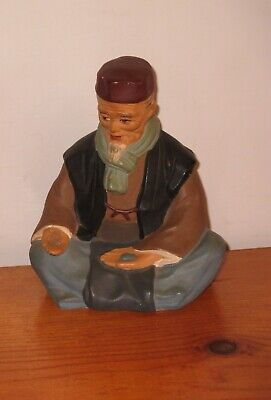 Hakata Urasaki Doll Figurine Handmade Old Man Sitting Holding Food