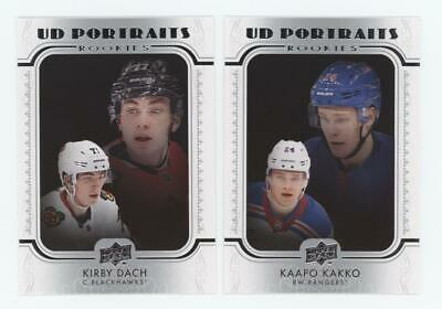 2019-20 Upper Deck Series 2 UD PORTRAITS ROOKIE Near Set (40/50) KAKKO /HUGHES +