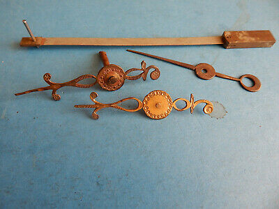 ANTIQUE LONGCASE CLOCK SECOND HANDS and SUSPENSION SPRING