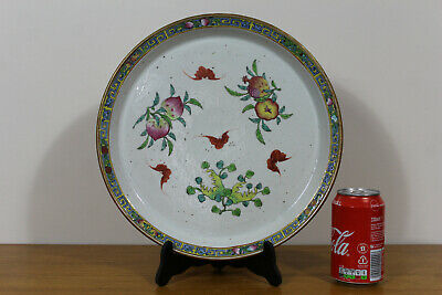 A large Chinese porcelain dish (plate) - 19th century