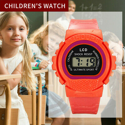 Fashion Children Kids Girls Boys Analog Digital Sport LED Electronic Watch Liu