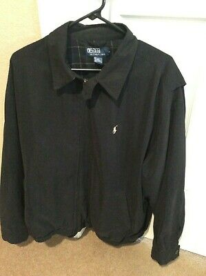 POLO RALPH LAUREN Men's XL Full Zip Black Basic/Golf Jacket  GREAT CONDITION