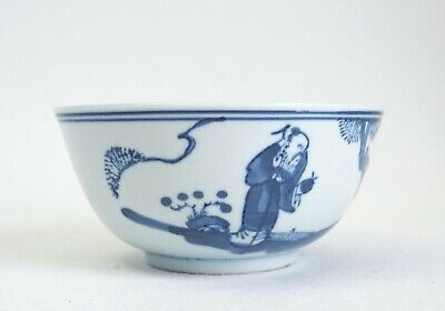 Fine antique 18th/ 19th century Chinese blue & white porcelain bowl