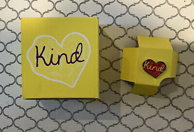 Enameled Heart Lapel Pin~Pinback & Kind Gift Box- New In Box- 1 Kind Pin! Nice