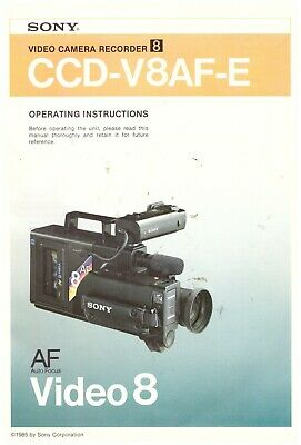 CAMCORDER SONY 8 mm