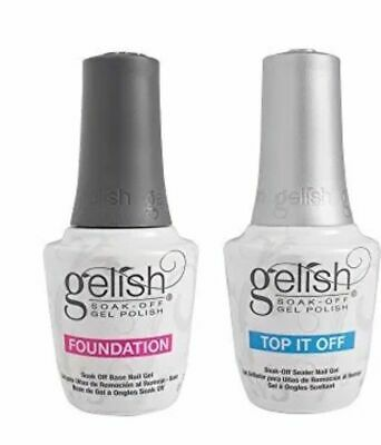 Gelish Harmony Dynamic Duo Foundation Base + Top Soak Off UV Gel Polish LED