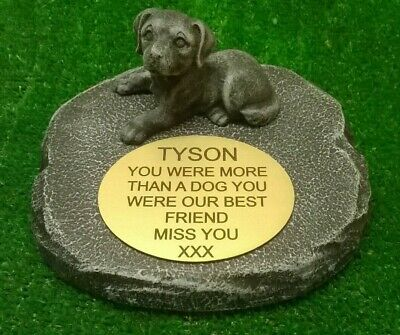 dog Large Pet Memorial/headstone/stone/grave marker/memorial with plaque ag16