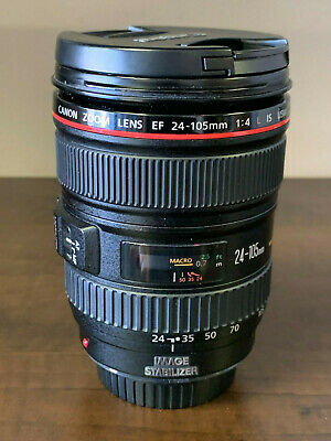 Canon Ef 24-105Mm F/4 L Is Usm Zoom Lens W/ Caps **Please See Photos**