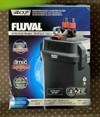 Fluval 407 Complete Media Performance Canister Filter New In Box Free Shipping