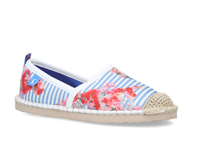 Brand New In Pack - Joules  Ocean Espadrilles Flipadrille - Blue - Size 5