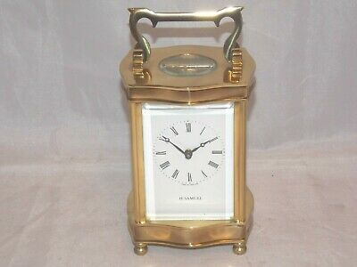 8Day English Serpentine Carriage Clock By Fema, London In Superb Condition.