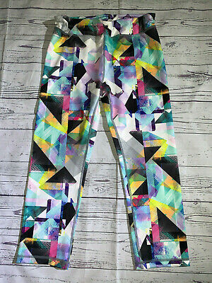 ATHLETA GIRL Super Cute Vibrant Colored Crop Capri Leggings Size XL (14)