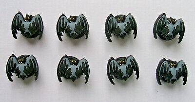 SHOE CHARMS (A3) - HALLOWEEN BATS -  (8HW) - Pack of 8