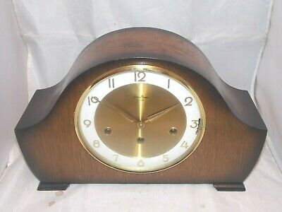 Bentima 8Day Musical Triple Chime Mantle Clock With Floating Balance Movement.