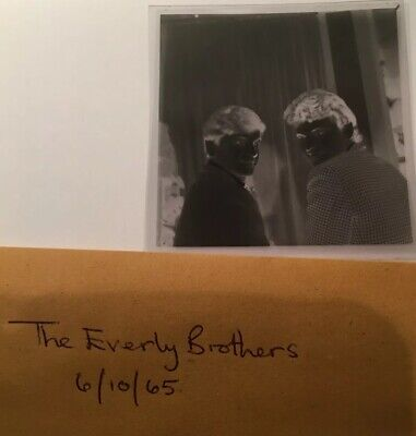The Everly Brothers. Pop Group. HISTORICAL IMAGE / PLASTIC NEGATIVE.