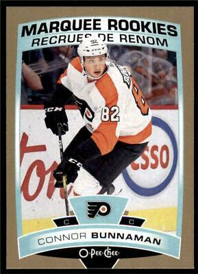 2019-20 Series 2 OPC Update Gold Border Marquee Rookies #646 Connor Bunnaman