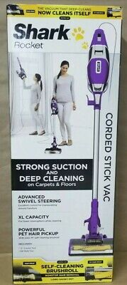Shark Rocket ZS350 Corded Stick Vac Zero M Self Cleaning Brushroll Purple NEW