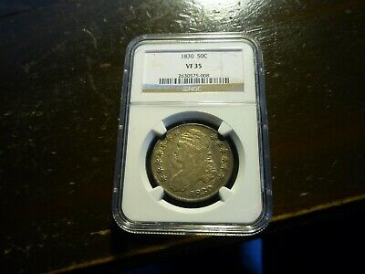 1830(Ngc)(Vf35) Capped Bust Lettered Edge Half Dollar - Nice Toning +++!!!