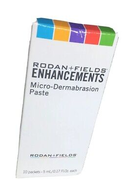 Rodan + Fields NEW Enhancements Microdermabrasion Paste 10 Packets 5ml Each