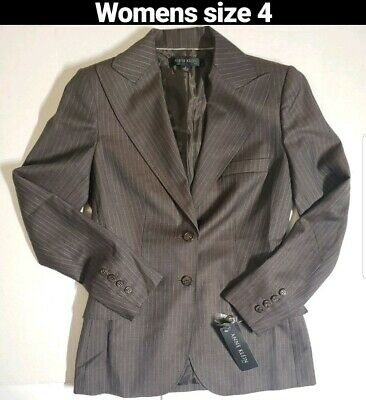 Anne Klein Platinum Suit Jacket Gray Size 4 Womens NWT $380