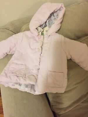 JACADI Girl/'s Accorde Lacquered Red Parka With Hood Size 6 Months NWT $112