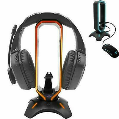 Tilted Nation RGB Headset Stand and Gaming Headphone Display with Mouse Bungee