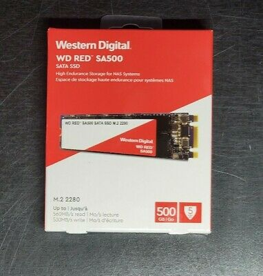 Western Digital Red SA500 M.2 2280 500GB SATA III 3D NAND Internal Solid State