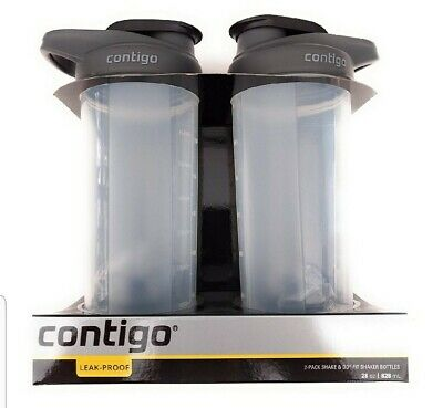 2-Pack Contigo Shake&Go Fit 28oz Protein Shaker Mixer blender Bottle Leak Proof