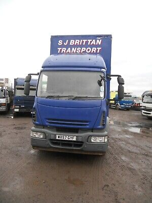 Iveco 180E25 2007 Sleeper Cab Manual G/Box On Steel 26' Curtainside T/A Taillift