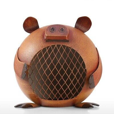 Lovely Piggy Bank Money Saving Bank for Kids Iron Coin Bank Nursery Gift C7Q5