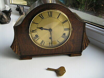 Lovely Westminster Chime Art Deco Clock, Fully Working