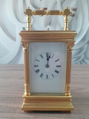 Antique French 8 day repeater carriage clock. Circa 1880-1920.
