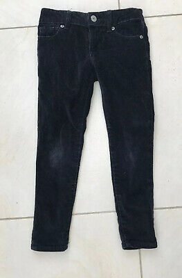 GAP Kids Girls Black Velvet Trousers Age 5, VGC