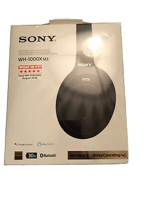 NEW IN BOX UNOPENED Sony WH-1000XM3 Wireless Noise Cancelling Headphones - Black