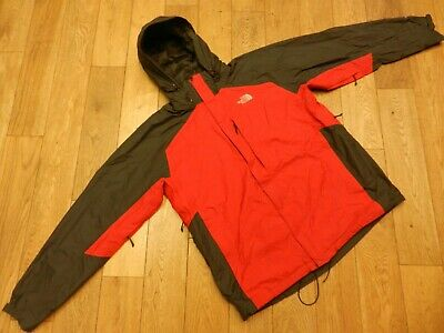 The North Face Hyvent Waterproof Rip-Stop Parka Jacket Colour:red/Grey Size:xl