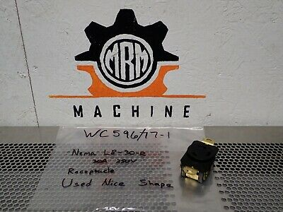 Pass & Seymour WC596/77-I Receptacle Nema L8-30-R 30A 250V Used With Warranty